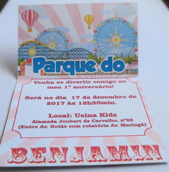 Convite Parque De Diversões 01