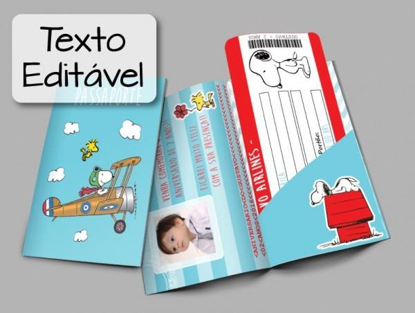 Convite Passaporte + Passagem EditÁvel No Elo7