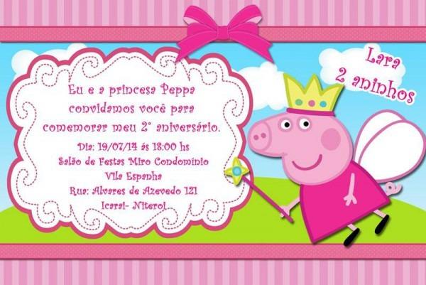 40 Convites Da Peppa Pig E George – Modelos De Convite