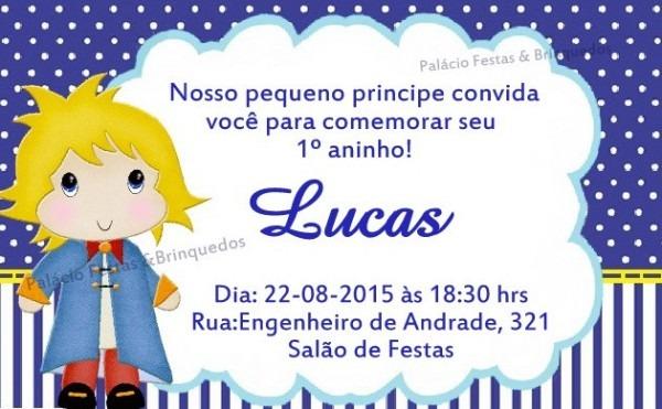 Convite Pequeno Principe No Elo7