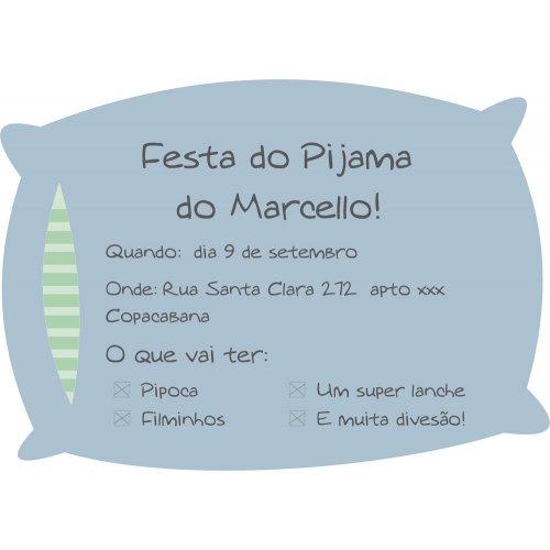Convite Festa Do Pijama Pillow