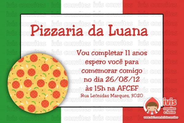 Convite Digital Pizza No Elo7