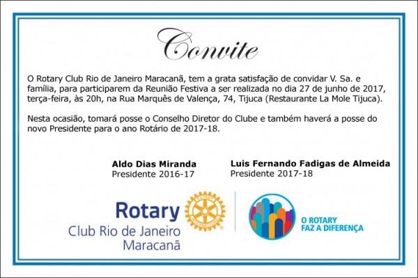 Convite  Posse Do Novo Presidente E Conselho Diretor 2018