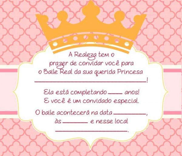 Convite Princesa – 14 Modelos Encantadores! – Modelos De Convite