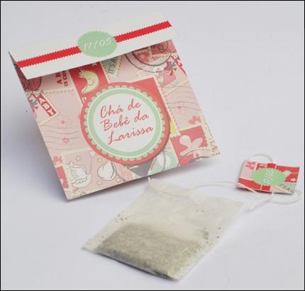 Convite Formato Sachet De Chá