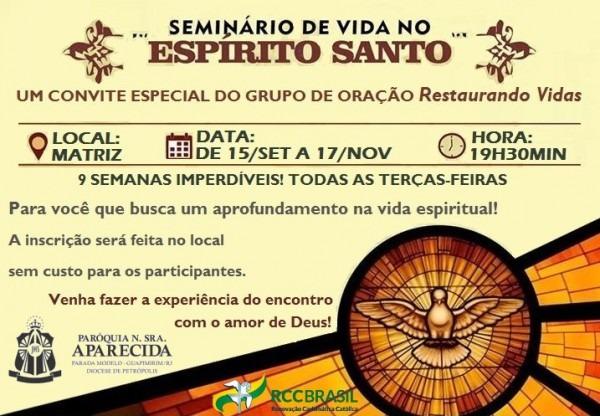 Convite Seminario « Diocese De Petrópolis