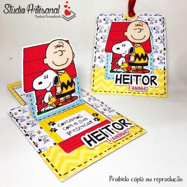 Convite Charlie Brown E Snoopy