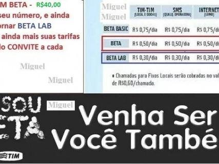 Convite Tim Beta Em Brasil 【 Ofertas Abril 】