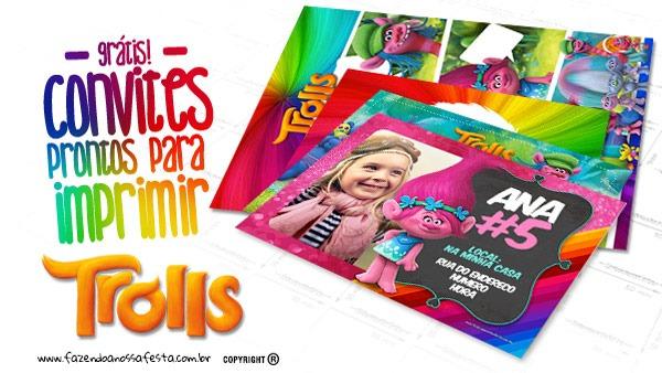 Convite Trolls 19 Modelos Gratuitos Para Imprimir