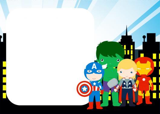 Convite Vingadores  60 Ideias Incríveis & Modelos Para Imprimir Grátis