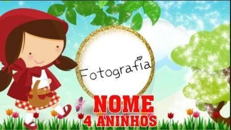 Convite Virtual Animado Chapeuzinho Vermelho