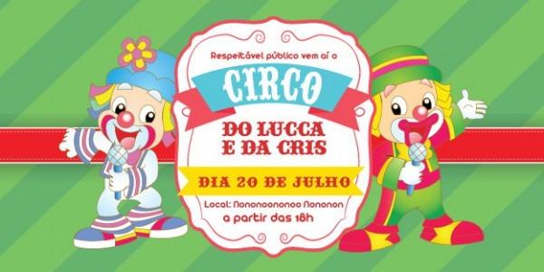Convite Zap (virtual) Circo Patati Patata No Elo7