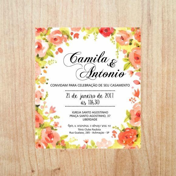 Convite Virtual Floral 1 No Elo7