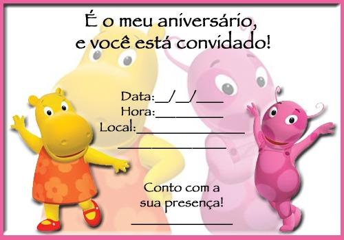 Convite Dos Backyardigans Para Aniversário Infantil