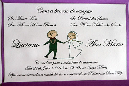 Convite De Casamento ~ Marina Oliveira