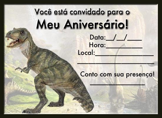 Convite De Aniversário De Dinossauros Para Imprimir « Aniversário