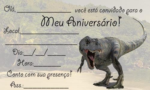 Convites De Dinossauros