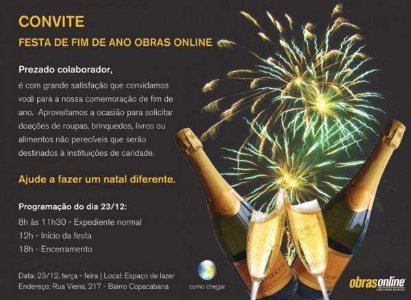 Convite Parar Festa De Fim De Ano
