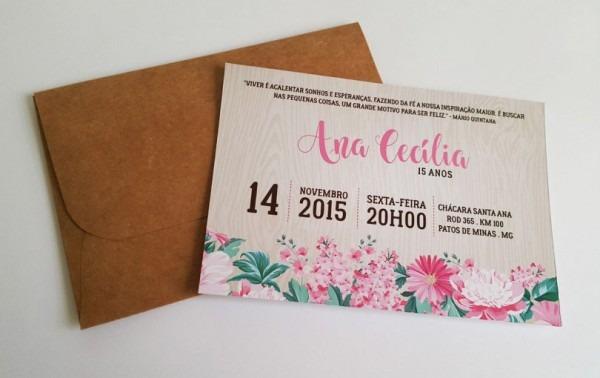Convites Para Festa De 15 Anos  7 Modelos Para Imprimir Em Casa