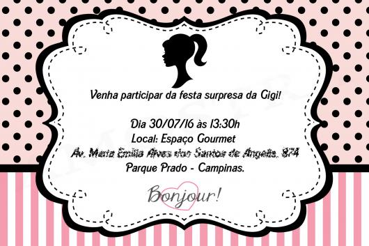 Convites Da Barbie  60 Ideias Fantásticas & Modelos Para Imprimir