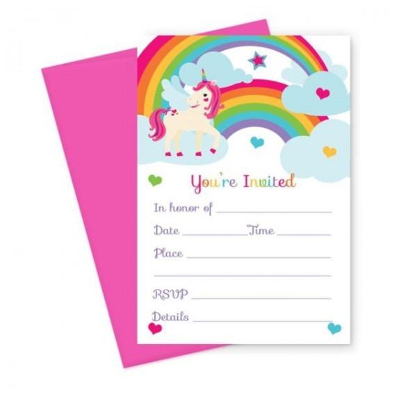 Convites De Aniversário Infantis Unicórnio