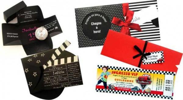 Convites De Aniversário Modernos E Personalizados