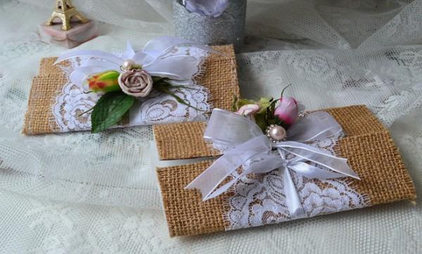 Convites De Casamento Com Caixa De Leite E Juta