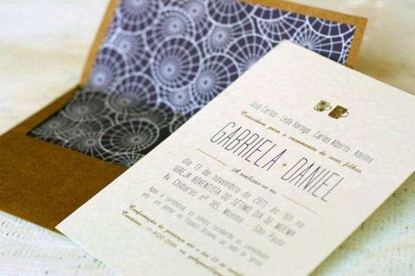 Convites Casamento,impressão Relevo Francês,impressão Tipografia