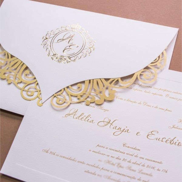 Convite De Casamento Simples  Conheça Papeis Mais Usados