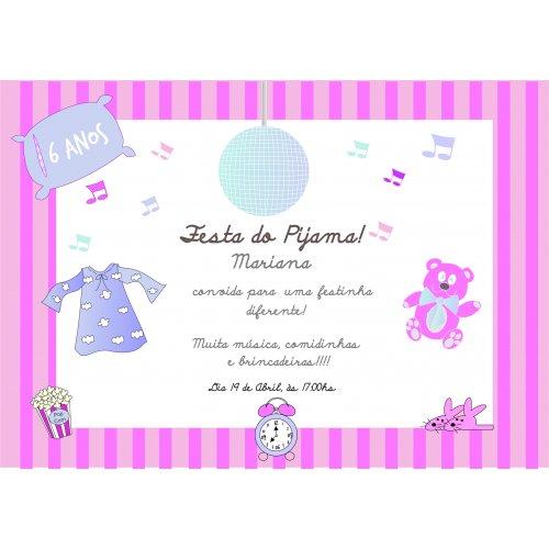 Convite Festa Do Pijama Balada