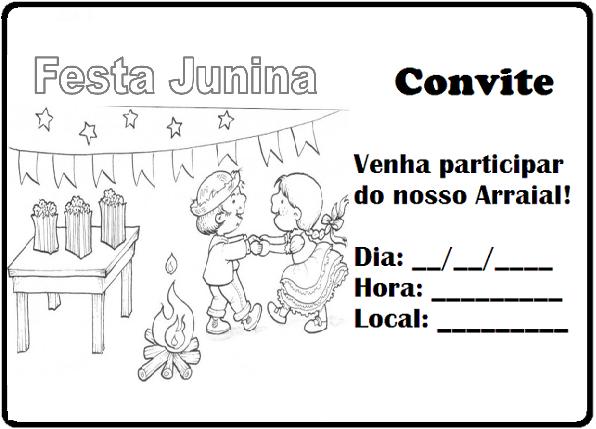 Convites Para Festa Junina Para Imprimir — SÓ Escola