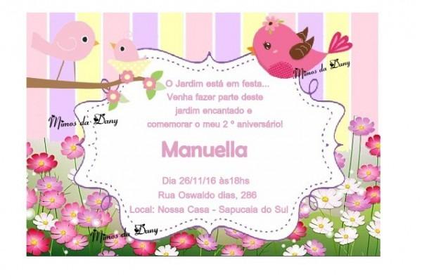 Convites Jardim No Elo7