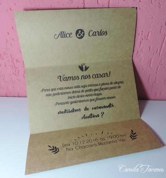 60 Convites Para Padrinhos De Casamento Lindíssimos & Como Fazer!