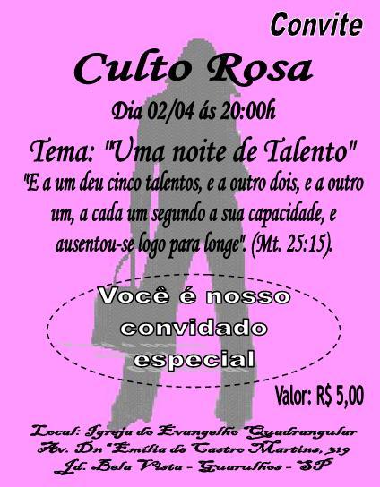Quadrangular Guarulhos  Culto Rosa