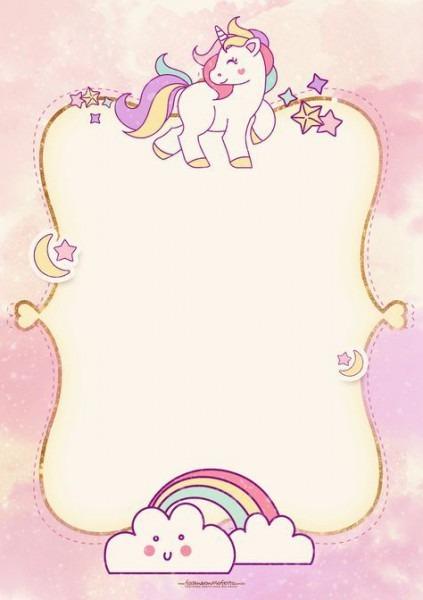 Convite Unicornio 2