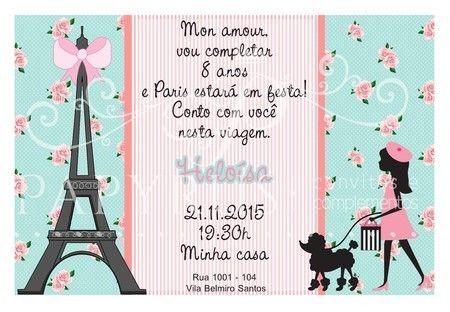 Pin Em Tema De Festa Paris