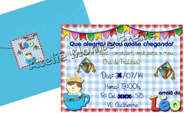 Convite Aniversário Chá Bebê Caipira Festa Junina