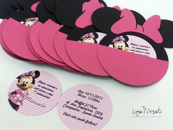 Convite Minnie Personalizado