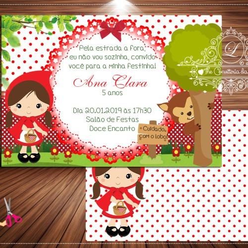 Convite Chapeuzinho Vermelho Na Rededots Com Br