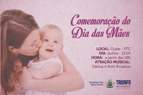 OpiniÃo Triunfo  Convite ComemoraÇÃo Dia Das MÃes (idosos)