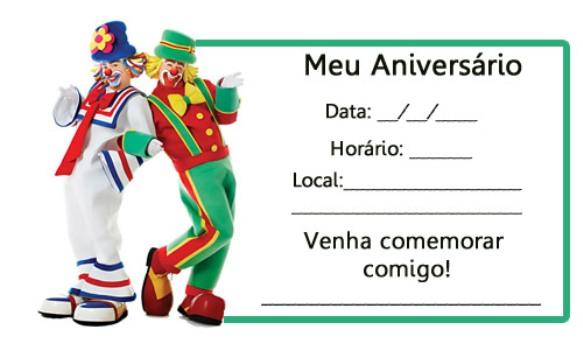 Convites Para Festa De Aniversario Infantil Para Imprimir