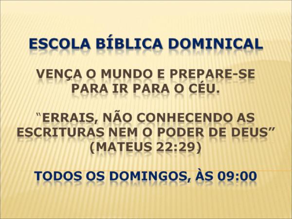 Escola Bblica Dominical