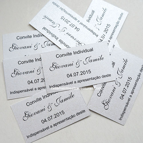 Tag  Convite Individual (anexar Ao Convite Oficial)