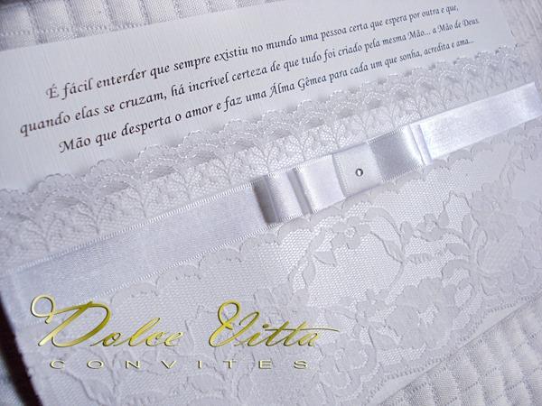 Dolce Vitta Convites  Convite De Casamento Com Renda!!!