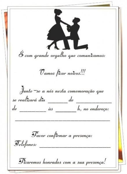 Gy Farias  Modelos De Convites Para Noivado