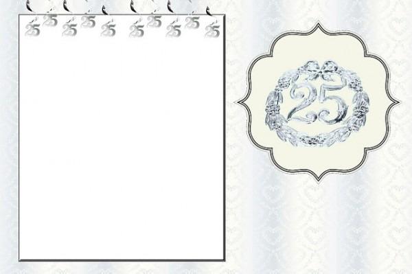 Bodas De Prata – Kit Completo Com Molduras Para Convites, Rótulos