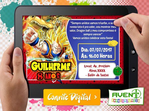 Convite Digital Dragon Ball Z