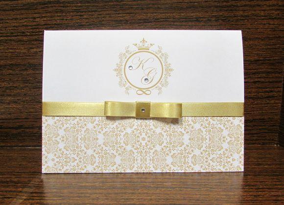 Convite De Casamento Barato Personalizado De Luxo