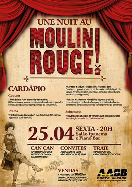 Jantar No Clima Moulin Rouge