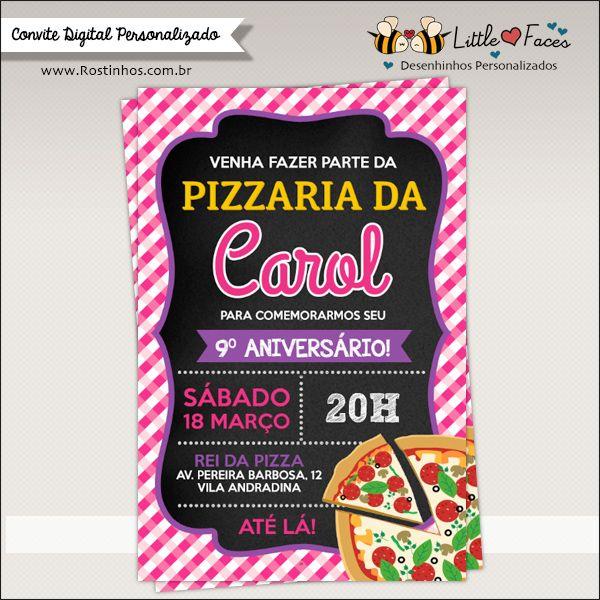 Convite Festa Da Pizza Para Imprimir